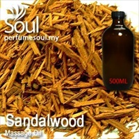 Massage Oil Sandalwood - 500ml